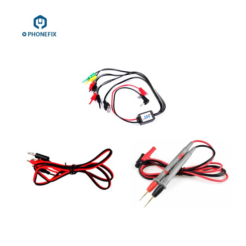 VIPFIX Multimeter Pen Alligator Clips Cell Phone DC Power Supply Cable