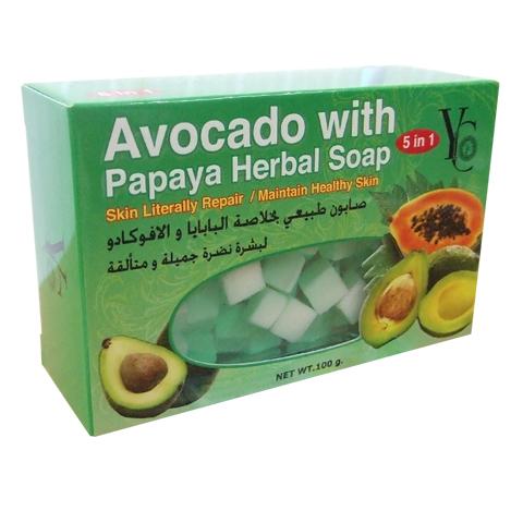 Avocado With Papaya Herbal Soap