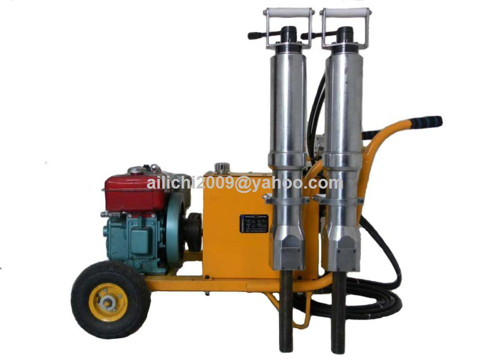 Diesel fuel powered station hydraulic splitting machine for reinforced concrete stone mining rock et