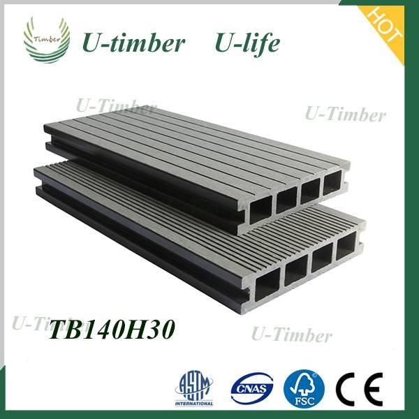 Popular environmental plastic flooring wpc decking