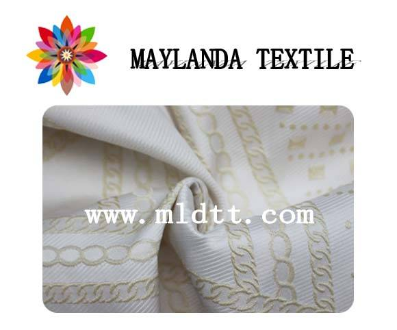 Maylanda Textile 2015 Factory for Garments, New Style Dyeing Jacquard Fabrics with Elastic