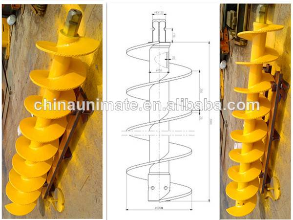 continuous flight auger, CFA auger, Bored Pile drilling