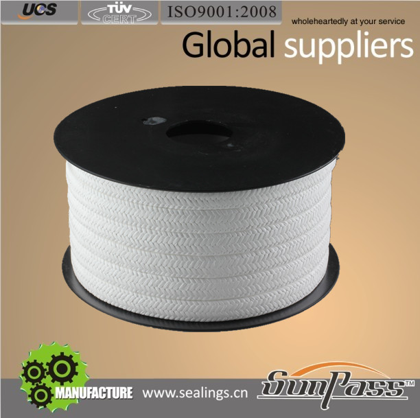 Pump Gland Packing Top Sale 100% White Expanded Pure PTFE Teflon Gland Packing