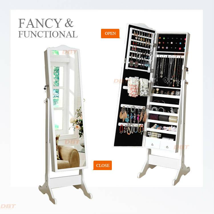 jewelry organization with dressing mirror