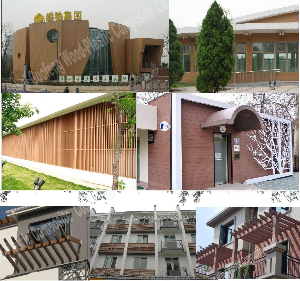 wpc outdoor decking wall cladding/wall panel/wall panel