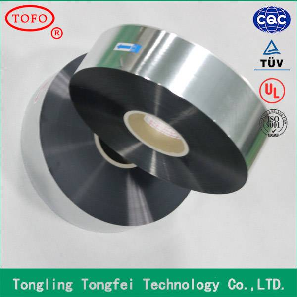 Bopp safety pet roll hot zinc alloy heavy edge capacitor film new products on china market