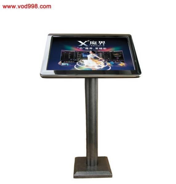 black leopard  pillar kiosk touch screen