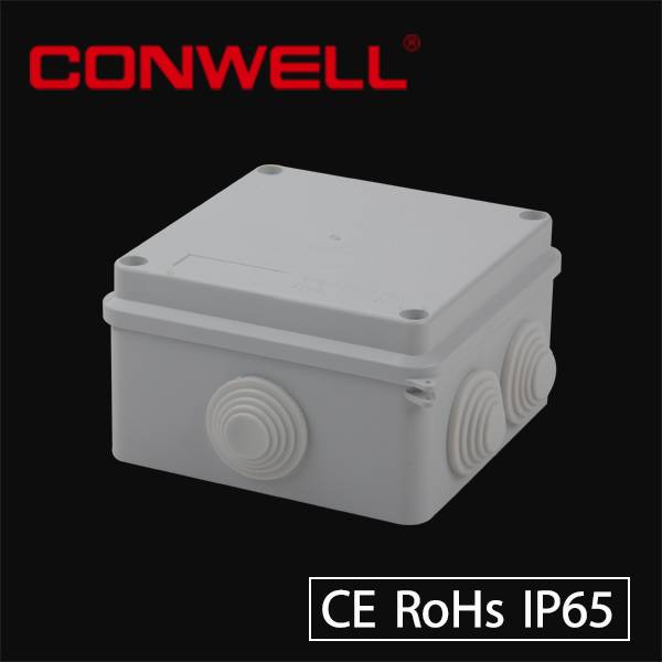ip65 protection level plastic asb electrical junction box