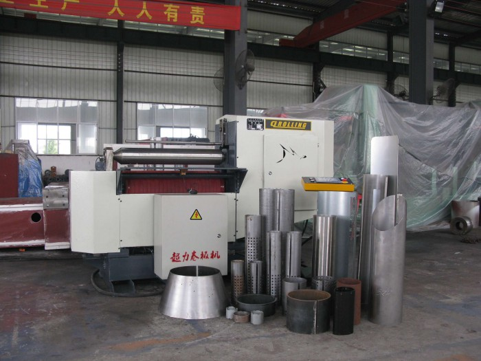 2-roller bending machine for different metal sheet tank