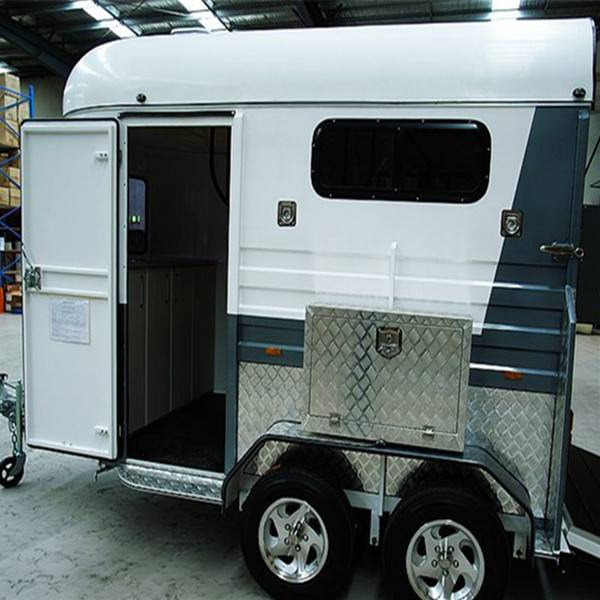 deluxe 2 horse float trailer with cupboard