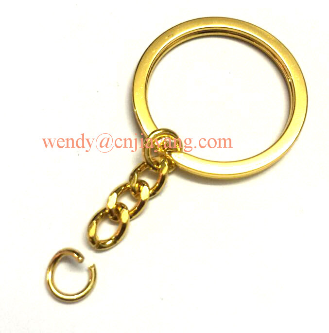 jiayang key split ring with chain link