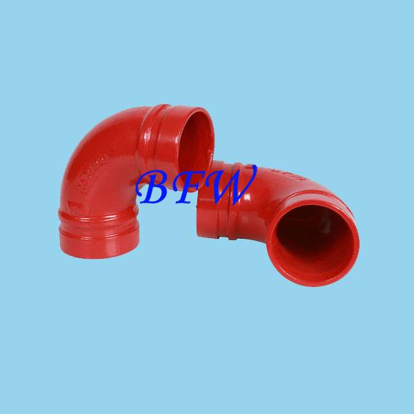 UL&FM ductile iron grooved fitting