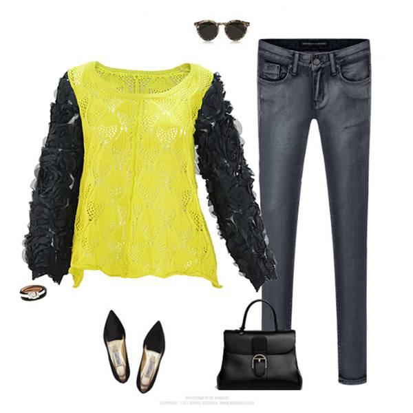 2015 new design chiffon ladies blouse/sweater