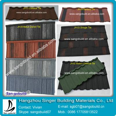 Colorful metal roof tiles with high quality in china factory