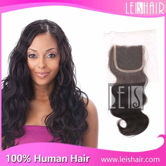 top quality virgin hair body wave lace closure 4*4