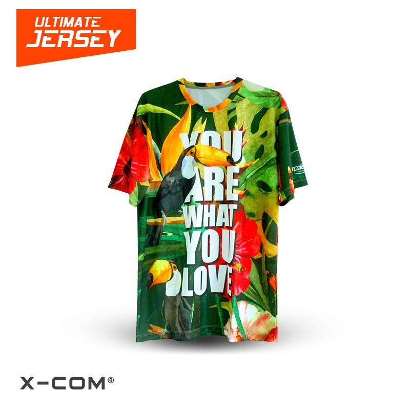X-COM Sublimation Sports Jersey/ Short Sleeves T-shirts for Ultimate Frisbee Teams