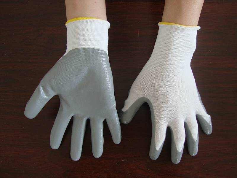 hot sales One-Sided nitrile Palm Coated glove