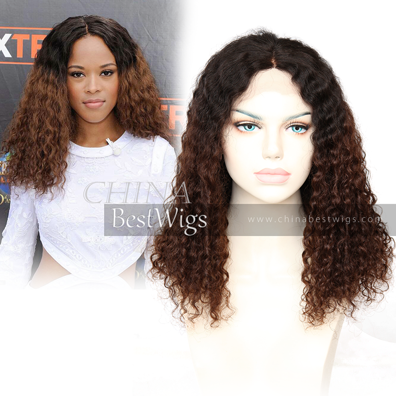 ombre lace wigs double drawn hair