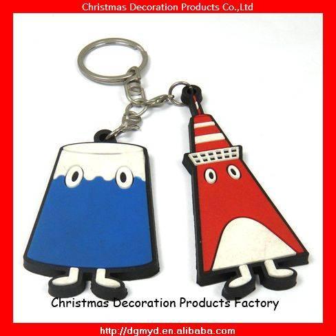 Japan style 2D soft pvc key chains