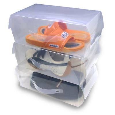 Transparent plastic shoes box