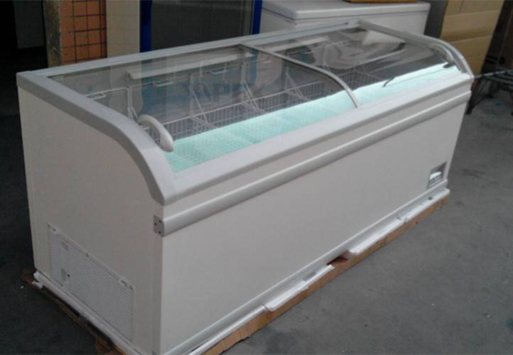 Commercial Glass Sliding Lid Chest Freezers