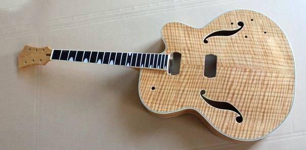 18'' semi hollow jazz unfinish guitar
