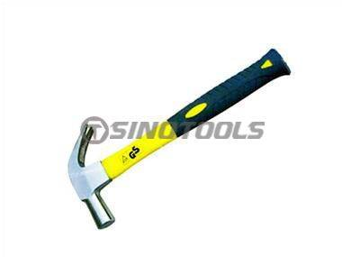 British Type Claw Hammer with Colour Plastic-Coating Hammer