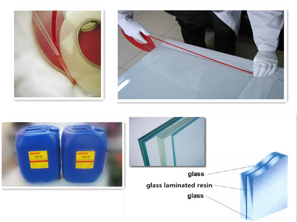 SAOSA UV cured resin for high impact resistance safety laminating glass