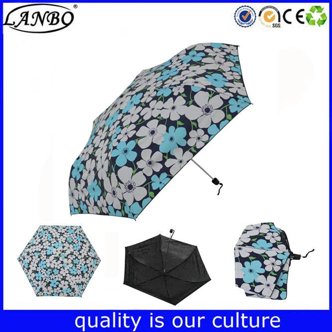 Hot selling small pocket umbrella five fold mini umbrella