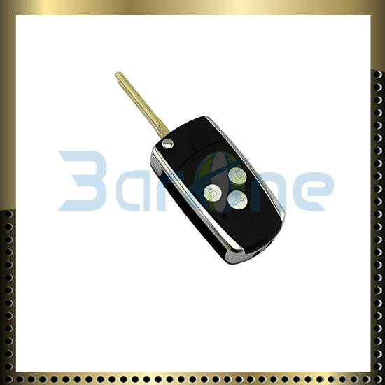 3 button car key shell with shiny edge forToyota