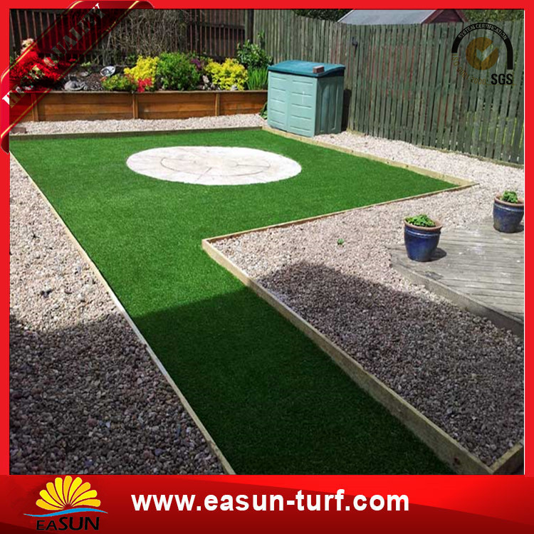 25mm PE turf artificial synthetic garden grass turf for football garden field-Donut