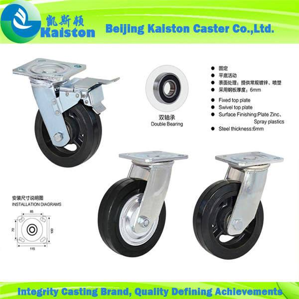 Kaiston Heavy duty Rubber Castors