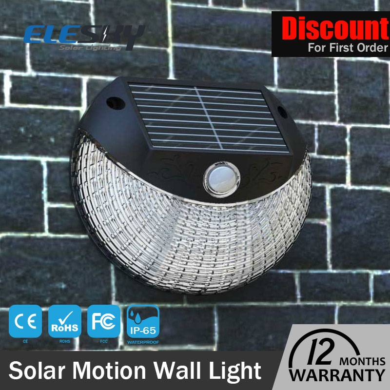 Wholesale Garden Use Round Led Solar Wall Night Light