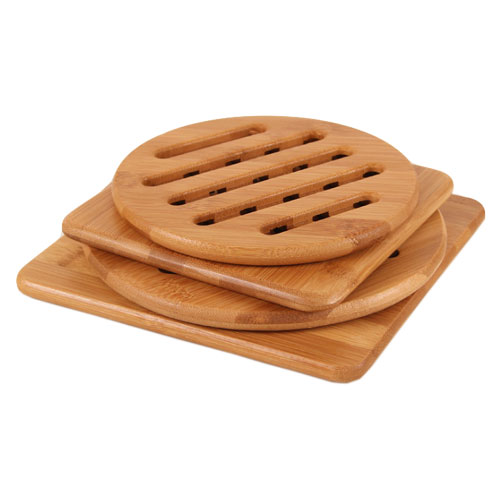 Bamboo Trivet Hot Pot Holder Coaster Pad