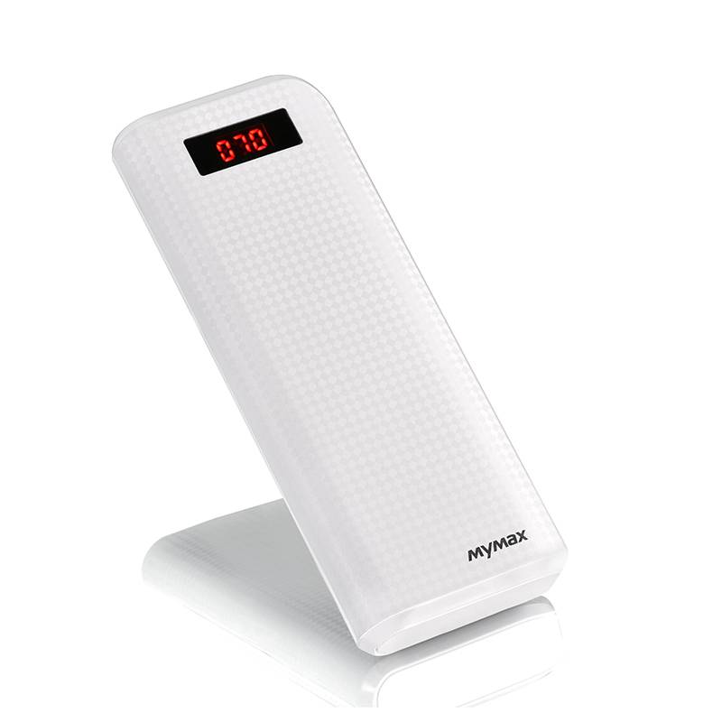 Imymax External Portable 20000mAh Carbon Power Bank with LED Display