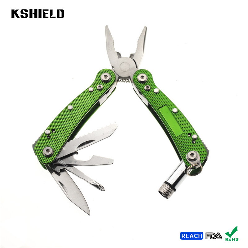 Wholesale Green Handle EDC Mini Multi Tool with Led Pliers