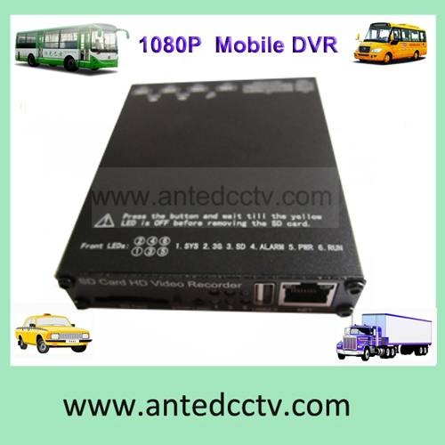4 channel SD card 3G  mobile vehicle dvr with WIFI GPS tracking