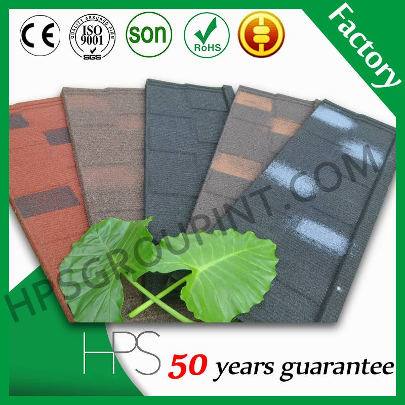 2016 hot sales colorful stone coated metal roofing tiles