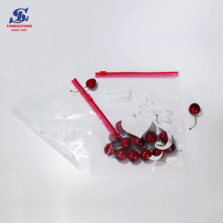 Print Food Grade Slider Zipper Plastic Bag Zip Lock Bag