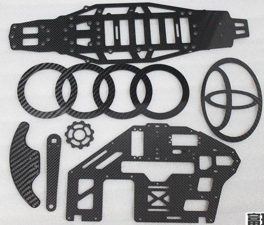 Carbon Fiber Irregular Shaped CNC cuttting OEM Items