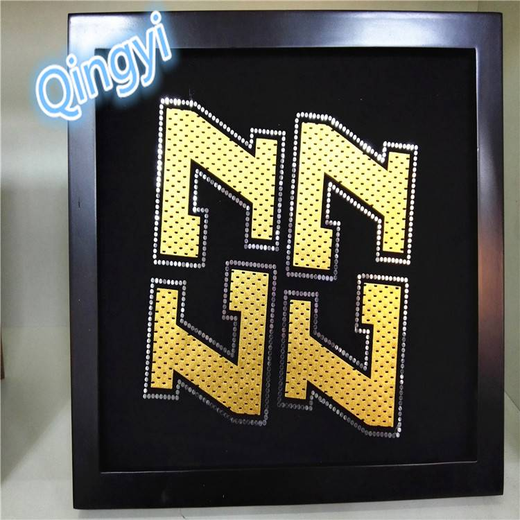 Qingyi hot sale laser cut heat transfer sticker for T-shirt printing