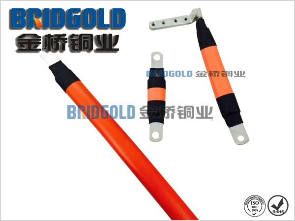 copper earth conductor insulated with fiberglass sleeving
