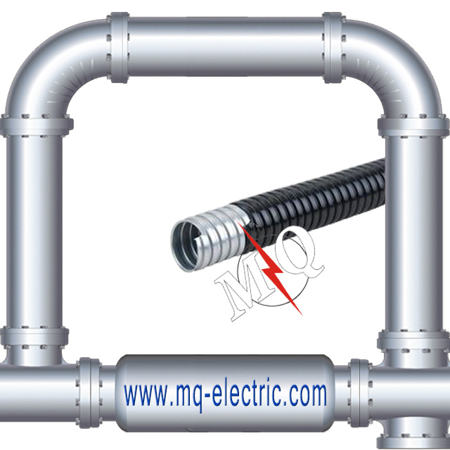 Galvanized Steel PVC Coated Flexible Electric Conduit