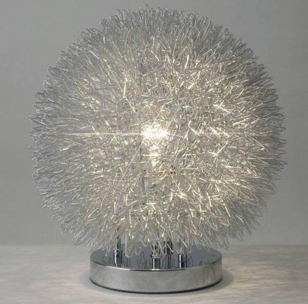 touch Aluminium ball table lamp/silver touch ball desk lamp/touch aluminium wire ball table lamp/Dim
