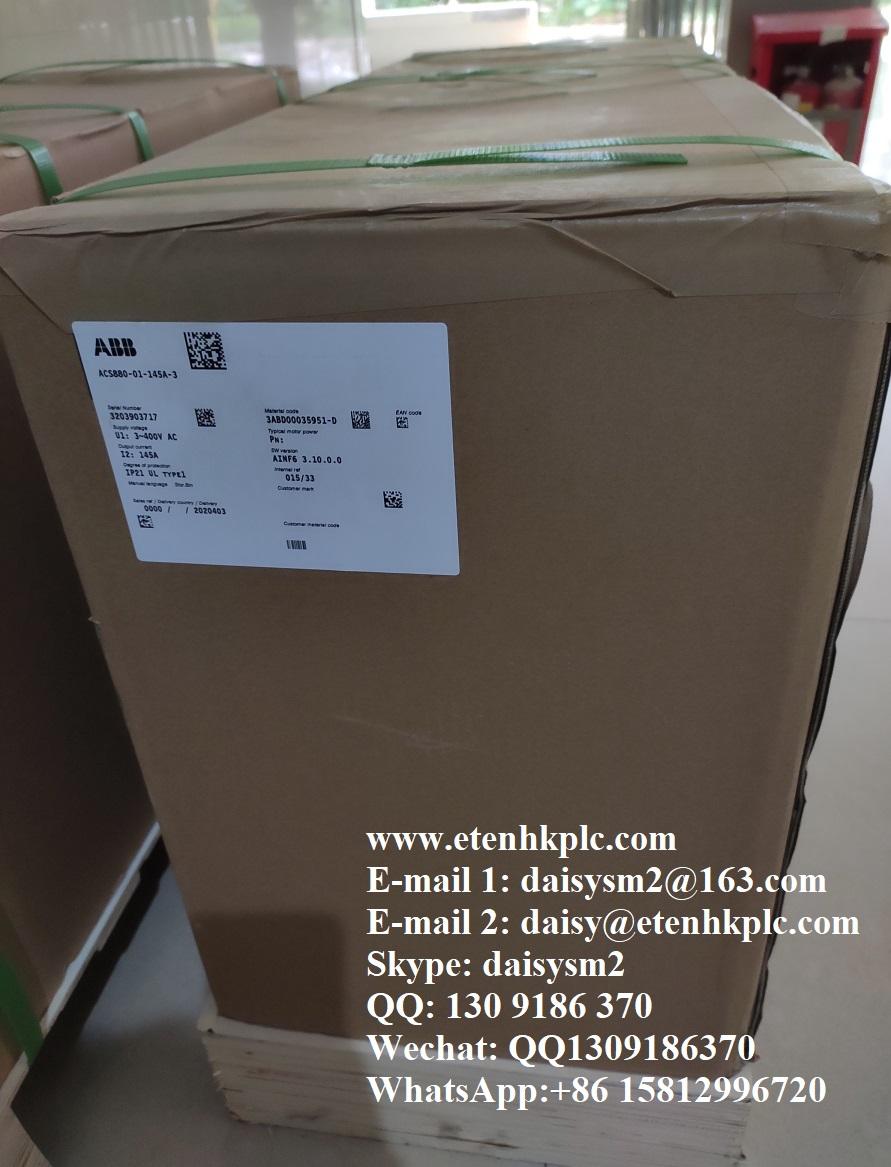 100% new original ABB Inverter ACS880-01-145A-3
