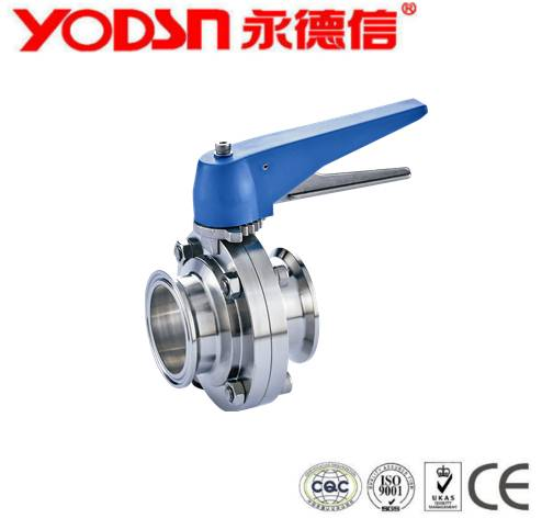 Stainless Steel Diary manual  butterfly valve with pull handle, butterfly valve handle