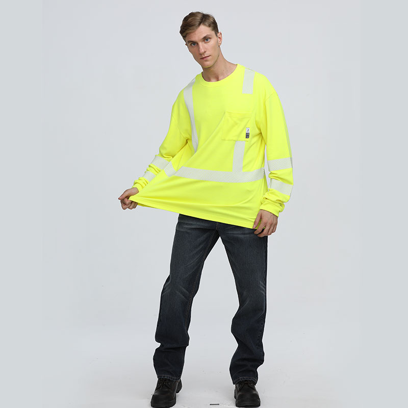 High visibility cotton long sleevefire resistant men's shirts