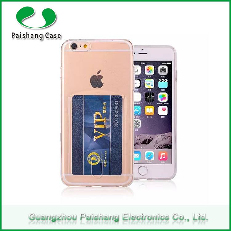 Newest slim transparent case multicolor soft TPU durable anti-friction with card slot case cover for