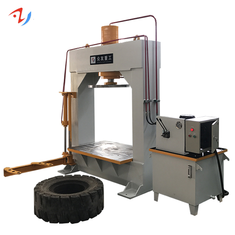 Forklift tyre removal change machine hydraulic press 150/200 ton