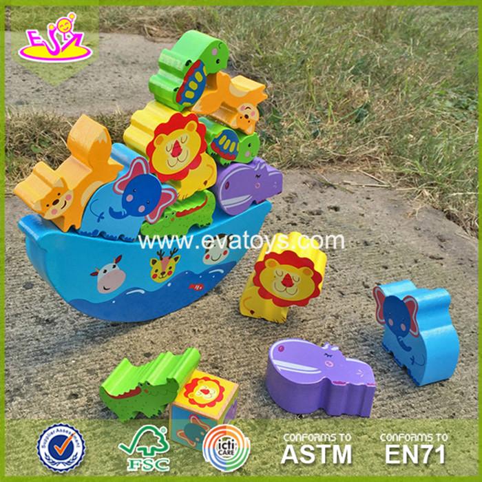 2017 Wholese wooden balance toy children wooden balance toy animal wooden balance toy W11F047